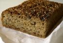 Pain sans gluten à la farine de riz et céréales