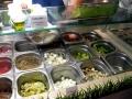 Protéines, herbes fraîches, légumes, crudités...