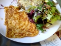 Omelette au fromage et pain de chez Chambelland chez Lula © Cookismo.fr