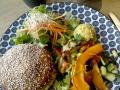 Burger au quinoa sans gluten au 5 Lorette © Cookismo.fr