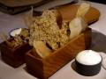 Crackers de riz et topinambour aux fleurs