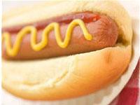 Hotdog avec saucisse de Francfort