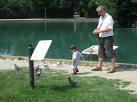 L'étang du Parco Ducale.