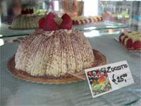 Le Zucchotto, à base de crème mascarpone.