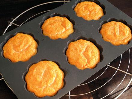 Petits flans à la carotte cuits