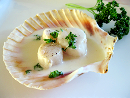 Coquille St-Jacques au champagne