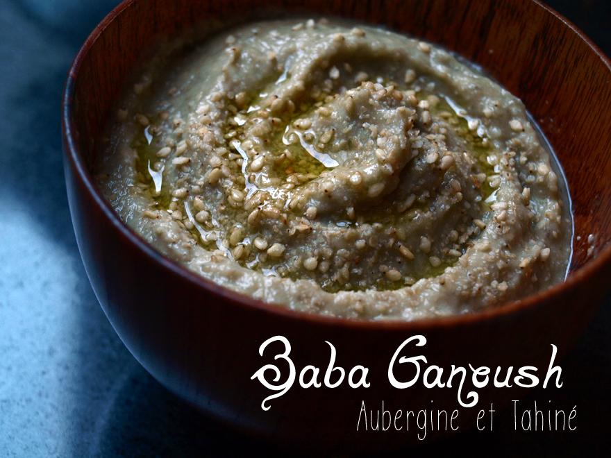 Aubergine à la crème de sésame (baba ganoush)