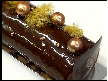 Bûche de Noël chocolat-caramel d'Arnaud Lahrer