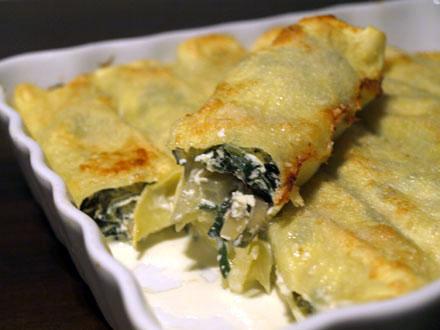 Cannellonis de blettes la ricotta et la menthe cookismo recettes saines faciles et - Cuisiner les feuilles de blettes ...