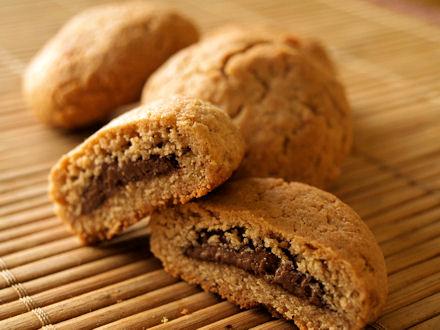 Cookies la farine de ch taigne coeur chocolat cookismo recettes saines faciles et - Recette de cookies au nutella ...