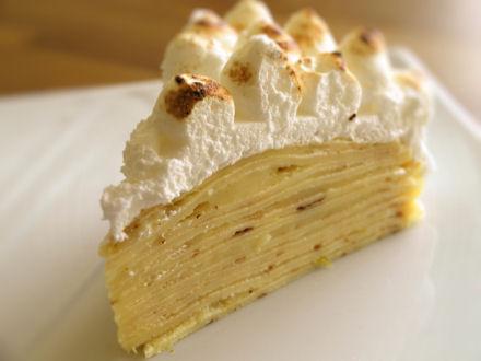 Gâteau de crème au lime curd