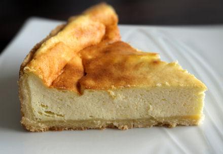 Tranche de tarte alsacienne au fromage blanc