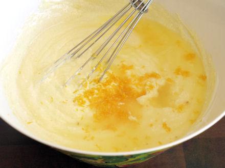Préparation de la garniture au fromage blanc