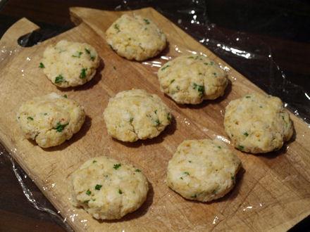 Crab cakes avant cuisson