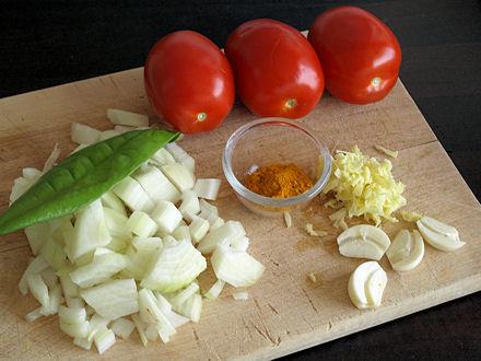 Ingrédients du carry poulet