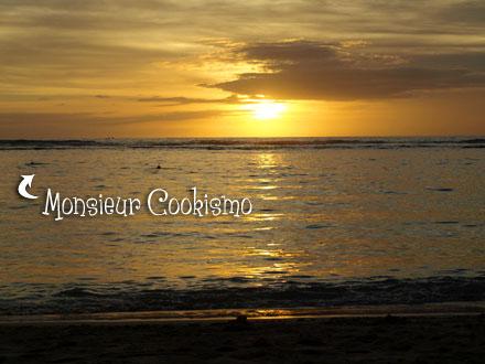 Coucher de soleil, plage de l'Ermitage