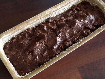 Cake chocolat-sésame avant cuisson