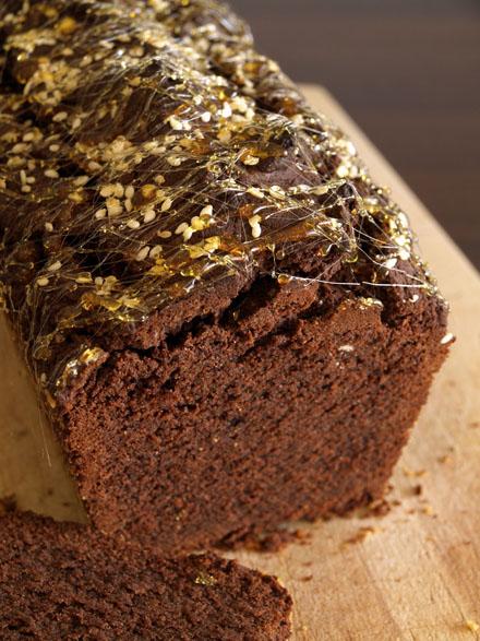 Cake chocolat-tahini tranché
