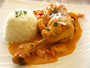 recette mijot de poulet aux crevettes, sauce coco