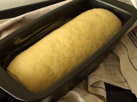 Pâte à brioche tourbillon après la pousse