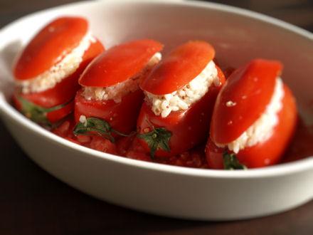 tomates farcies au poulet cookismo recettes saines. Black Bedroom Furniture Sets. Home Design Ideas