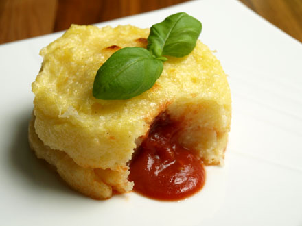 Polenta surprise coeur coulant