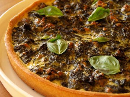 Tarte épinard-mozzarella
