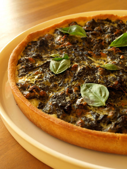 Tarte mozzarella-épinards