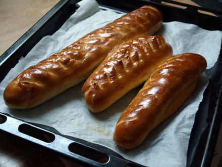 Baguettes viennoises cuites