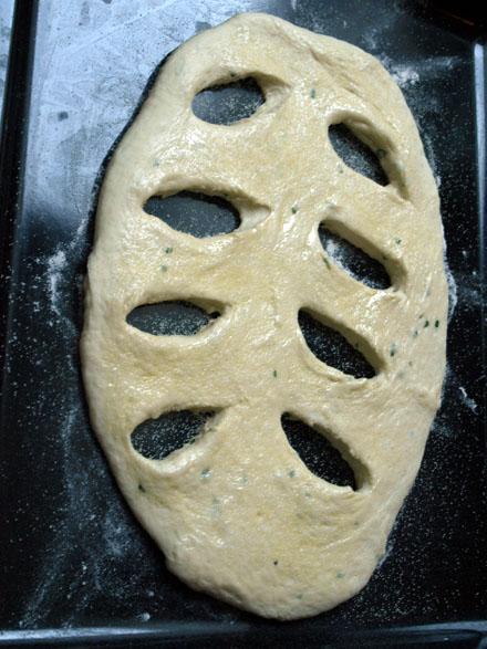 Fougasse avant cuisson