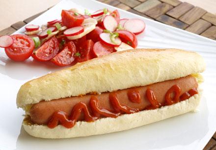 Hot dog - saucisse de francfort
