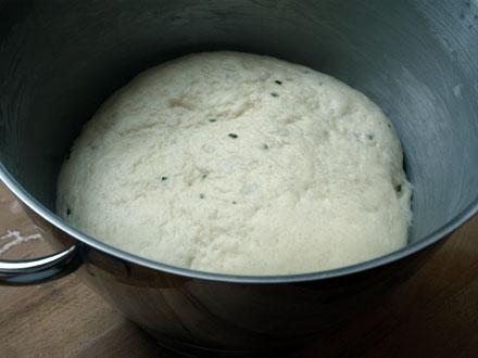 Pâte à fougasse gonflée