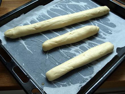 Pâtons de baguettes viennoises
