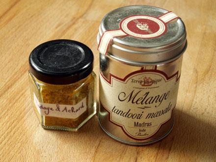 Mélange épices tandoori et achard