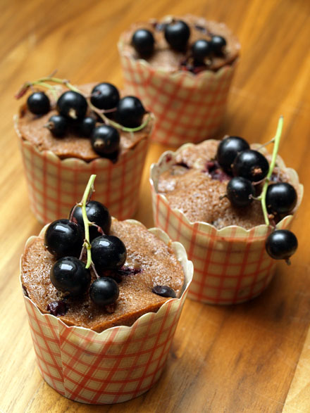Muffins myrtilles et chocolat