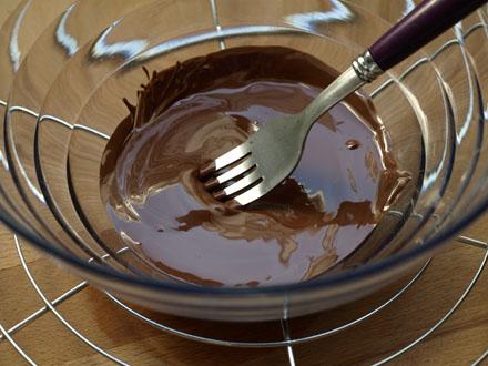 Chocolat noir fondu