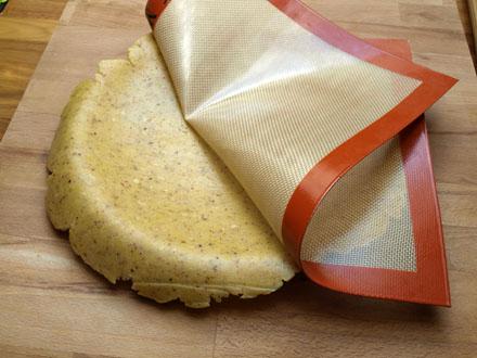 Fonçage du moule à tarte
