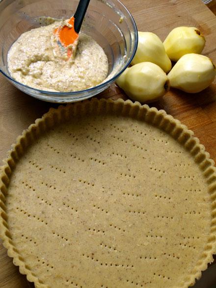 Fond de tarte et crème frangipane