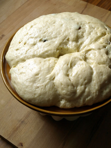 Pâte à kouglof gonflée