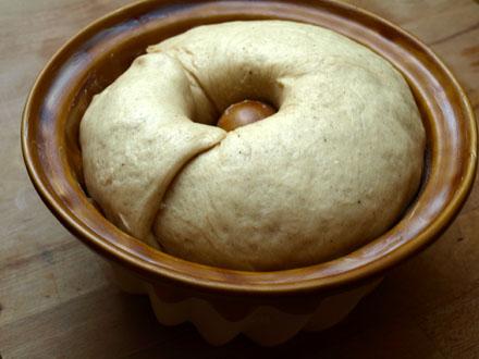 Pâte à kouglof avant cuisson