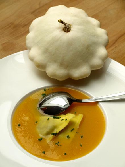 Soupe de pâtisson blanc