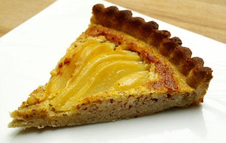 Tranche de tarte aux poires bourdaloue