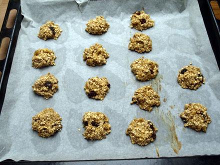 Formation des Biscuits avoine banane cannelle et miel