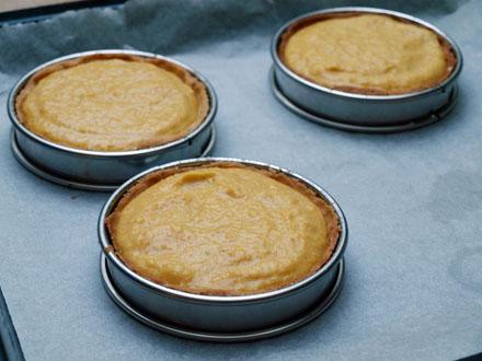 Tartelettes au potimarron avant cuisson
