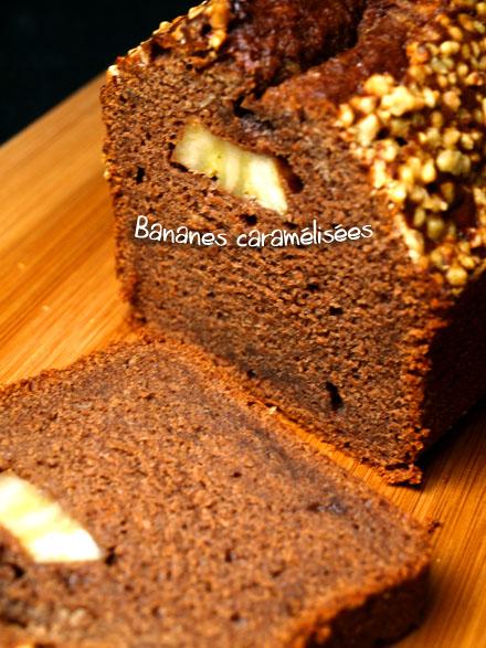 Cake aux bananes caramélisées