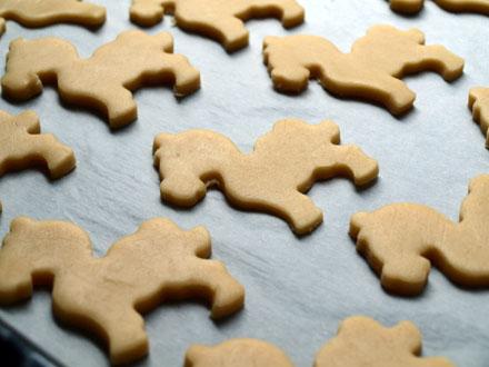 Biscuits au sésame avant cuisson