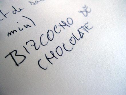 Bizcocho de chocolat de Pablo