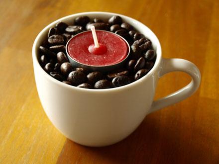 Bougeoir tasse de café