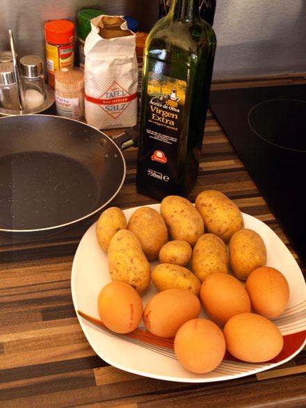 Ingrédients de la tortilla espagnole