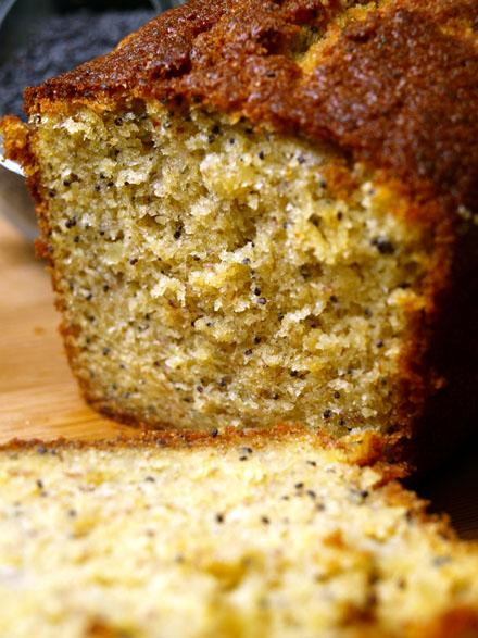 Cake banane pavot